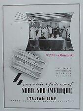 PUBLICITE ITALIAN LINE ITALIA PAQUEBOT CONTE GRANDE SATURNIA VULCANIA DE 1949 AD