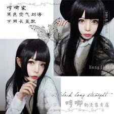 Japanese Sweet Lolita Daily Cosplay Wig Harajuku Straight Princess Black Hair