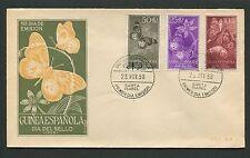GUINEA ESPANOLA FDC 1958 FAUNA SCHMETTERLINGE BUTTERFLIES BUTTERFLY d4132