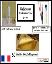 Discovery Kits Gold Leaf 50 Feuilles d'or Complet