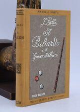 GIOCO SPORT Manuali HOEPLI Jacopo Gelli Il Biliardo e il Giuoco alle Bocce 1914