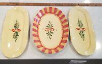 Gail Pittman Southern Living Home Siena Platter and 2 Tidbit Trays EUC