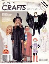 McCall's 2626 Kids' Wizard, Witch, Angel, Vampire, Space Alien Costume Pattern L