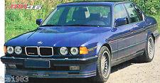 BMW ALPINA B10/B-10 SPEC SHEET/Brochure:1988,1989,1990,