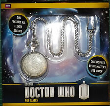 DR WHO FIGURES Fob Watch 11 Incarnations of the Doctor 50th ANNIVERSARY METAL
