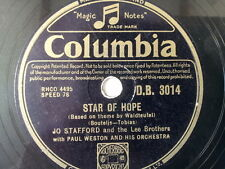 "78 rpm 10"" JO STAFFORD LEE BROTHERS Star of Hope"