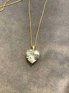 3.0 Carat Canary Yellow Diamond Love Heart Pendant With Necklace 9k Yellow Gold