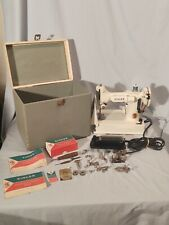 Vintage 1964 White Singer 221K Featherweight Sewing Machine, Ev929121, Rare