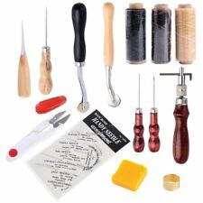 DE 14 tlg Leder Werkzeug Stitching Craft Hand Nähen Sewing Stitching Groover Set