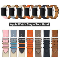38/42/40/44mm Apple Watch Leather Single Tour Band Strap for iWatch Series 4 3 2