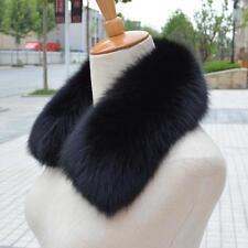 Women Men Real Genuine Fox Fur Collar Scarf Shawl Wrap Neck Warmer 50cm