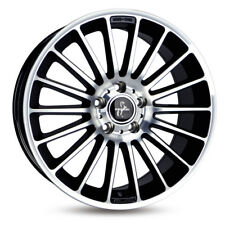 4x Alufelgen KESKIN KT15 8,5x19 5/112 ET45 BLACK FRONT POLISH Audi/VW *NEU*