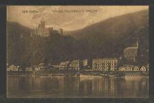 1910s DER RHEIN SCHLOSS STOLZENFELS U. CAPELLEN GERMANY POSTCARD