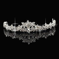 Classic Sparkly Crystal Rhinestone Crown Tiara Wedding Prom Bride's Headband KL
