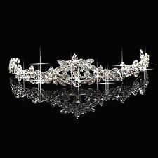 Classic Sparkly Crystal Rhinestone Crown Tiara Wedding Prom Bride's Headband E5