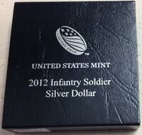 2012 US Mint Infantry Soldier Commemorative Silver Dollar - Proof