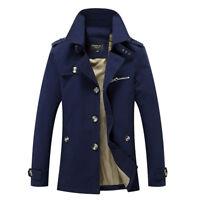 Fashion Men's Winter Slim Vogue Trench Long Jacket  Coat Overcoat Outwear