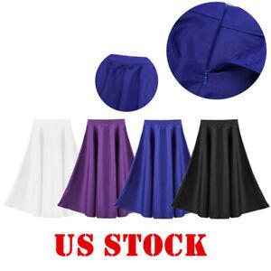 Girls Kids Full Circle Maxi Skirt Liturgical Praise Dance Dress Modern Dancewear