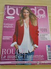 MAGAZINE COUTURE BURDA ROUGE  LE MUST DE L'AUTOMNE AOUT 2013  N° 164