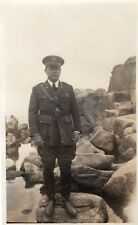 1931 Soldier Id'd Capt. Vivian Scott (Scotty) at Rocky Shore Military Photograph