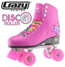 Crazy Disco Girls / Ladies Recreational High Top Roller Skates - Pink - Size 42