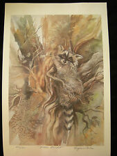 "VIRGINIA NILES, SIGNED & NUMBERED 626/950 1979 ""LITTLE BANDIT"" RACCOON"