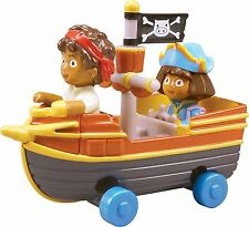 DORA & DIEGO TAKE ALONG KIDS DICAST PIRATE ROLLING SHIP BOAT WITH FIGURES