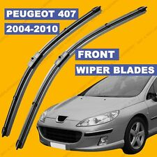 Side Pin Front set Wiper Blade For Peugeot 407 04-2010 54 55 56 57 58 59 60 reg