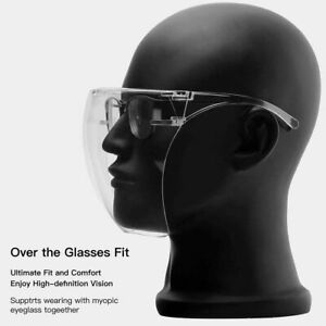 Clear Face Shield Mask Transparent Glasses Visor Anti-Fog Reusable