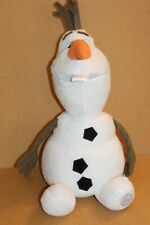 """Disney Store Frozen Olaf Snowman 14"""" Plush Soft Toy Tv Film Character Stamped"""
