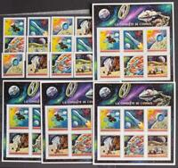 BURUNDI 1972 SPACE, XF ImPerf + Perf MNH** Sets + Sheets+OVP, Espace Exploration