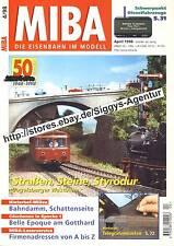 MIBA die Eisenbahn im Modell 4/1998, April 1998, Modell, Landschaft, Dioramen