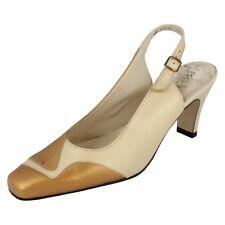 Mujer NICOLE talla UK 4.5 Dorado Beis Cuero De Salón Zapato de Geneva Equity