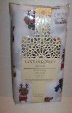 Cynthia Rowley Christmas Holiday Doxie Dachshund Napkins Set of 4 New in Package