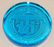 Vintage Blue Glass Wheaton Glass Blowing Centennial 100Th Birthday Paperweight