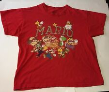 Mario Characters T-shirt Red Worn Boys XL Child Size