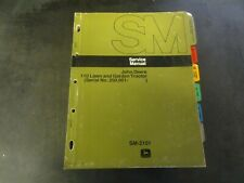 John Deere 110 Lawn and Garden Tractor Service Manual      SM-2101