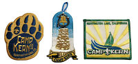BOY SCOUTS OF AMERICA PATCHES (3) - CAMP KERN - COLLECTIBLE - BSA GIFT - NEW!