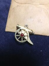 14K  3D Cannon SOLID CHARM PENDANT 14KARAT ESTATE