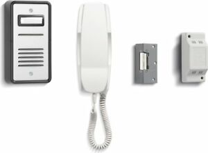 Audio Door Entry Intercom Kit with Security Lock Release - 1 Way Bell System 901