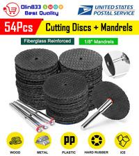 50Pcs Cutting Disc Cut Off Wheel For Rotary Abrasive Tools + 4Pcs Mandrels Set