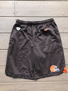 Nike Dri-Fit NFL Cleveland Browns Boys Youth Large Shorts