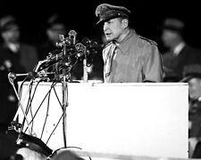 New 8x10 Korean War Photo: Gen. Douglas MacArthur Speech at Soldier's Field