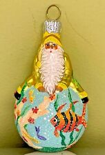 """Patricia Breen Snow Frolic Aquatic Milaeger's Excl Glass Glitter 2003 #2351 3.4"""""""
