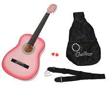 Guitarra clásica completa con accesorios, Gama básica, ROSA, Tamaño regular 4/4