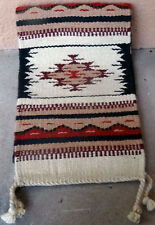 Southwestern Table Runner 36-10X80 Hand Woven Southwest Wool Geometric Design
