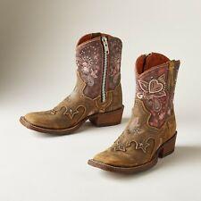 Sundance Dan Post Feminino Cowgirl Certificada Western Lily Rosa Marrom Desgastado