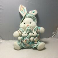 "14"" Mom Baby Bunny Rabbit Plush Stuffed Animal Easter Spring Country Farmhouse"
