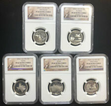 2004 S 5 Coin Silver Proof Quarter Set NGC Graded PF69 Ultra Cameo B2b