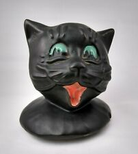 Rare Vintage Mccoy Black Cat Cookie Jar Art. Great Gift! Collectible Home Decor